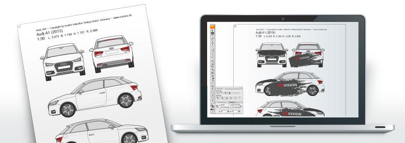 ccvision: Fahrzeugzeichnungen » CAR-3D: Online-Präsentation in 3D